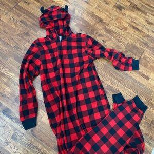 Buffalo plaid onesie